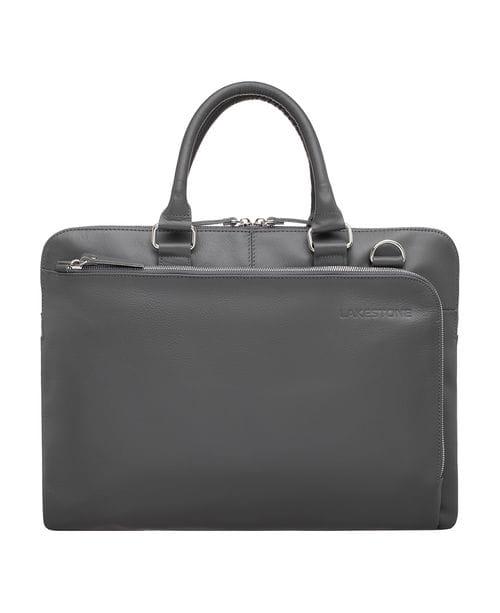 Кожаная деловая сумка Albert Grey