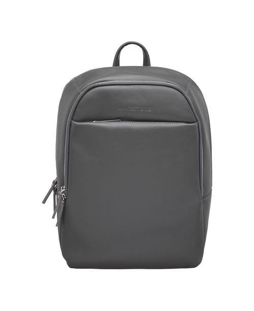 Кожаный мужской рюкзак для ноутбука Faber Grey
