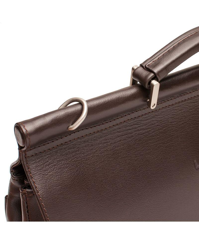 ec23d2ab8e90 Купить Lakestone Портфель на саквояжной планке Hammond Brown в ...