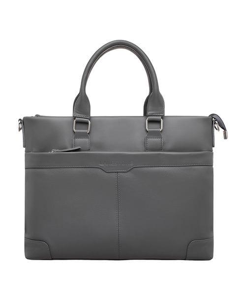 Кожаная деловая сумка Gilroy Grey