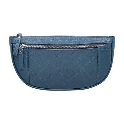 Кожаная поясная сумка Nevil Blue