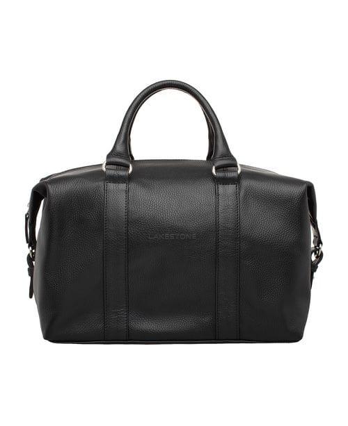 Кожаная спортивная сумка Calcott Black