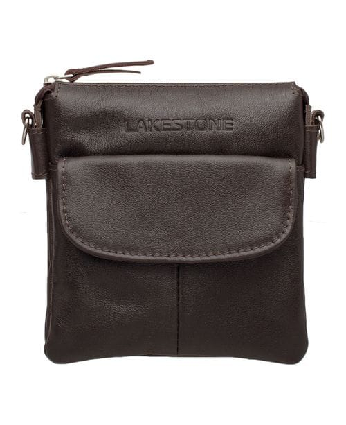 Lakestone Небольшая кожаная сумка через плечо Osborne Brown